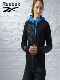 Women's Reebok 'UFAN' Full Zip Hoody (AJ4470) x6 (Option 2): £14.95